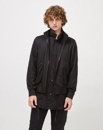 杰克琼斯春时尚个性帅气简约两面穿运动潮流百搭黑色休闲外套男