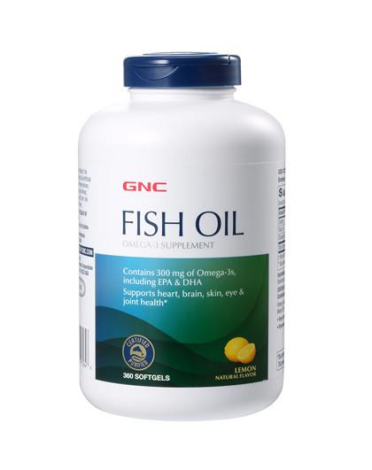 健安喜GNC 深海鱼油软胶囊360粒 柠檬香型无腥味