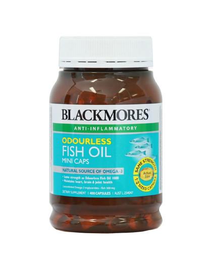 BLACKMORES 澳洲澳佳宝无腥味小粒深海鱼油软胶囊400粒 含DHA鱼油补脑