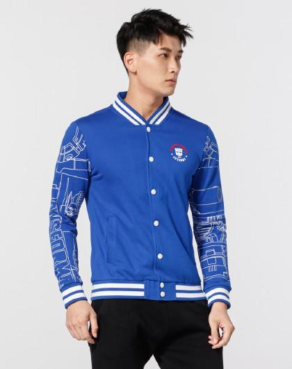 特步 XTEP时尚图案设计外套 男款针织上衣