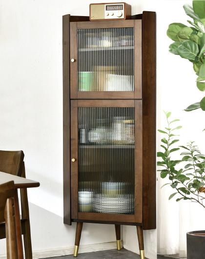 实木转角柜墙角柜卧室置物架家用厨房客厅收纳柜现代多功能边角柜