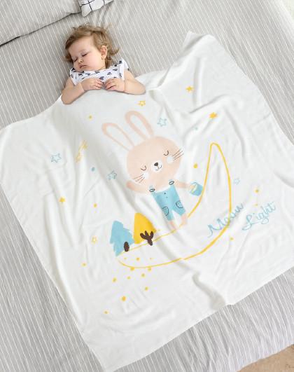 贝乐堡婴儿盖毯新生宝宝抱毯儿童空调毯夏凉被冰丝竹纤维午睡毯子