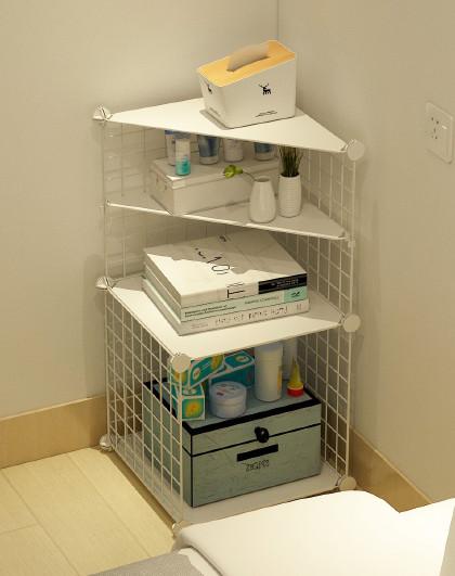 蔻丝 简易床头柜简约现代北欧ins风组装床边小储物收纳柜子卧室置物架