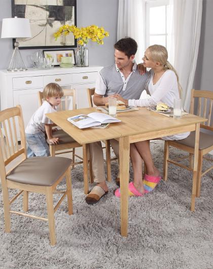 生活诚品 餐桌实木餐桌椅组合伸缩中式长方形桌椅4人6人饭桌小户型餐桌椅