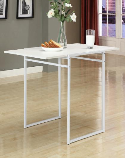 生活诚品 折叠餐桌书桌办公学习桌木铁方形多用桌