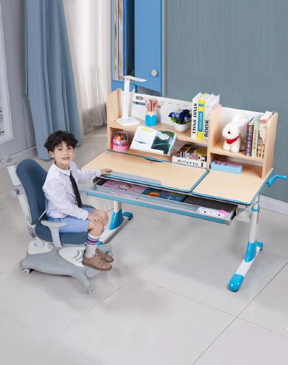 生活诚品 儿童学习桌椅套装可升降小孩写字桌1.2米大成长书桌椅套装