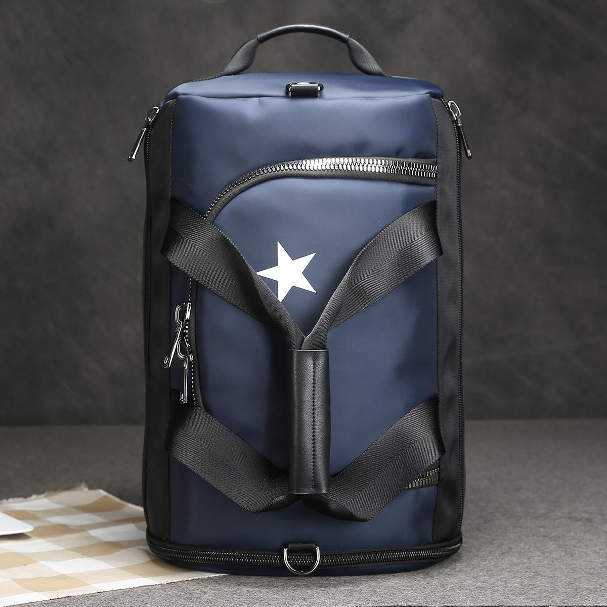 博牌 多功能休闲双肩包大容量运动训练男士背包健身行李手提旅行包