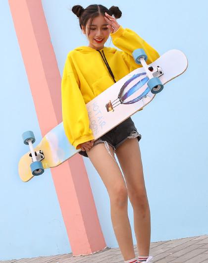 HUOBAN 长板滑板成人初学者滑板男女生刷街代步专业滑板车舞板抖音同款