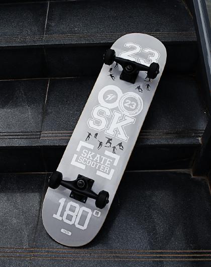 HUOBAN 滑板初学者成人滑板男女生滑板车双翘滑板儿童刷街代步枫木滑板