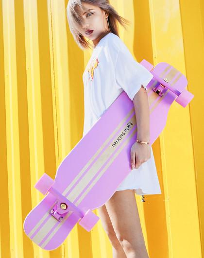 HUOBAN 滑板长板初学者女生滑板成人滑板四轮滑板车男女刷街代步全能长板