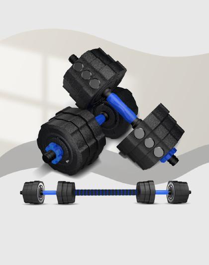 凯速 环保哑铃可拆卸男士健身哑铃杠铃套装家用健身器材带连接杆