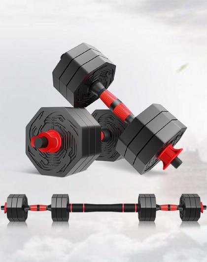 凯速 健身哑铃可拆卸哑铃杠铃套装男士多功能减肥塑身健身器材带连接杆