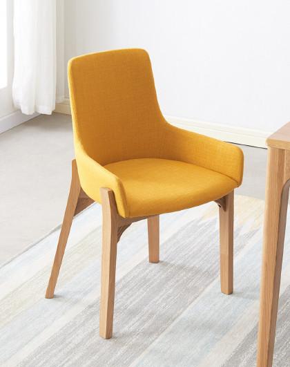 华谊 椅子北欧现代简约家用咖啡厅布艺座椅餐厅靠背休闲书桌椅