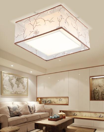 雷士 照明现代中式吸顶灯圆形卧室灯具中国风led简约灯