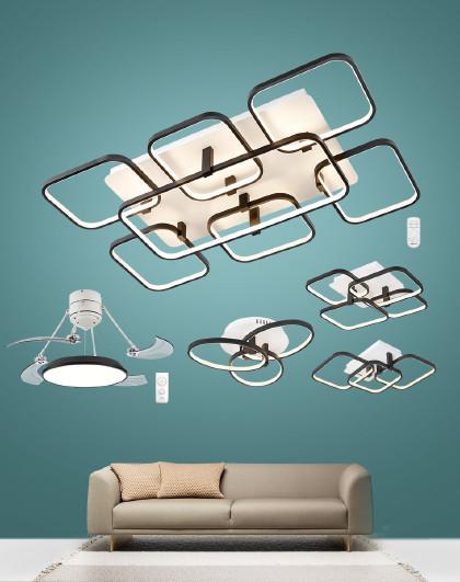 雷士 照明三室两厅风扇灯简约现代led智控吸顶灯饰灯具客厅灯