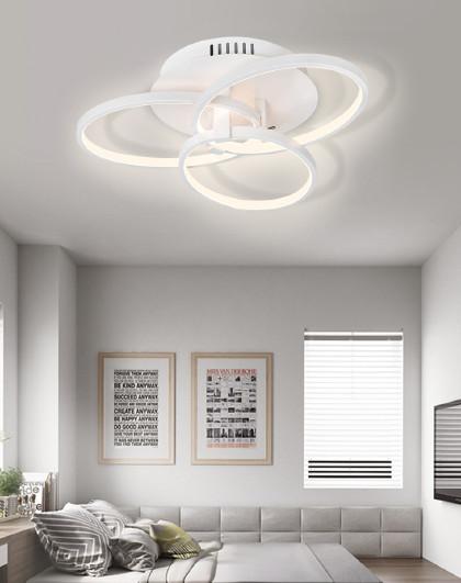 雷士 LED吸顶灯长方形客厅卧室灯饰简约现代大气创意家用灯具