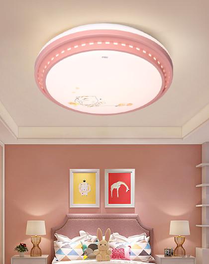 雷士 照明儿童房灯简约现代创意led吸顶灯男孩女孩公主卧室灯具