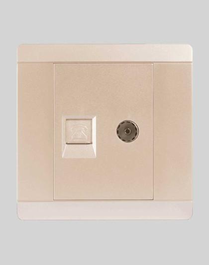 雷士 照明开关插座家用墙壁暗装墙壁86型开关插座面板