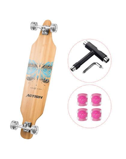 ACTION 滑板长板专业成人竹板男生女生刷街四轮滑板车公路板