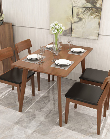 好事达 餐桌实木餐桌北欧饭桌现代简约长方形餐桌餐厅家具吃饭桌方形桌子