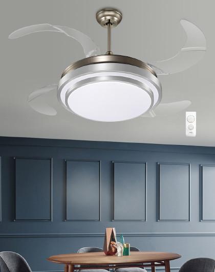 雷士 led吊灯餐厅风扇灯智能隐形扇叶简约现代客厅灯饰灯具