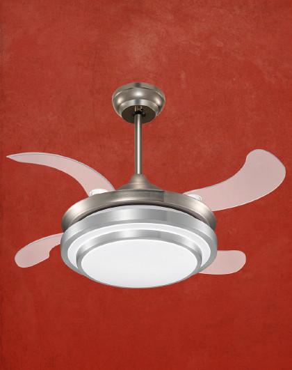 雷士 智能隐形扇吊灯客厅餐厅卧室家用简约现代电扇灯具风扇灯