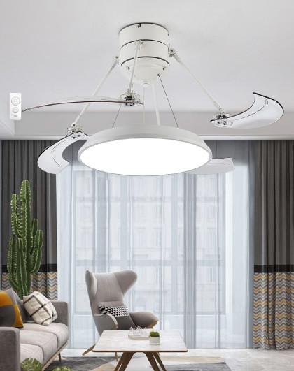 雷士 led吊灯中式餐厅风扇灯吊扇灯隐形扇叶遥控灯具灯饰