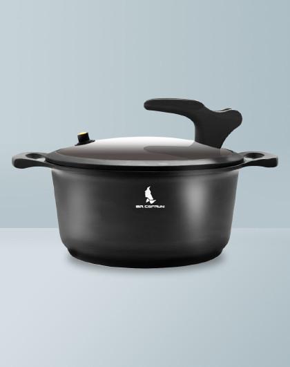 赛普瑞斯・先生 黑骑士煲汤锅炖锅焖锅家用不粘锅微压力锅电磁炉燃气通用