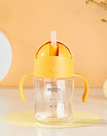 婴幼儿童阶段水杯奶嘴杯鸭嘴杯吸管杯学饮杯宝喝水带手柄防摔奶瓶
