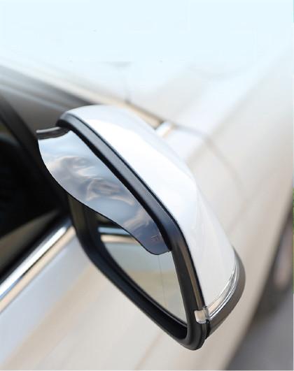 爱车屋 汽车雨眉车用后视镜晴雨挡倒车镜专用挡雨板两只装通用汽车饰品