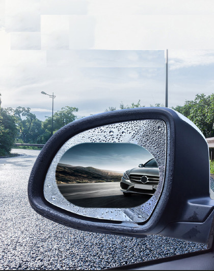 爱车屋 汽车后视镜防雨贴膜倒车镜防雾反光镜玻璃防水贴通用全屏侧窗车贴