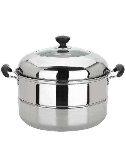 美厨 加厚不锈钢二层蒸锅36cm雅厨系列蒸煮两用MCZ203