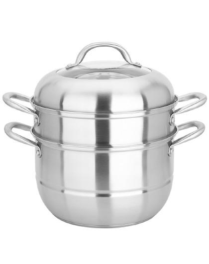 美厨 不锈钢二层蒸锅汤蒸锅26cm加厚复底MCZ-177