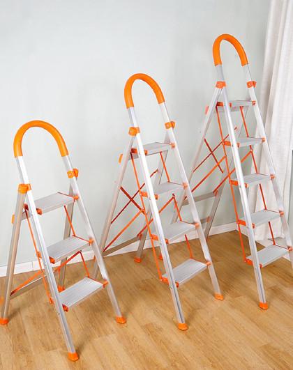 宝优妮 家用梯折叠加厚室内多功能人字梯铝合金梯子家庭登高梯