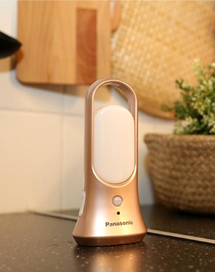 Panasonic 松下灯具LED人体感应USB充电手电筒小夜灯HHLT0225