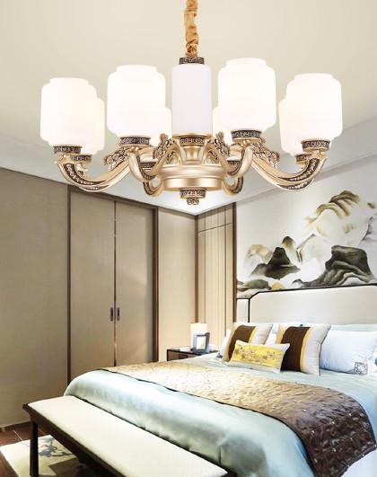 雷士 LED吸顶灯新中式大气吊灯客厅餐厅灯简约现代灯具灯饰
