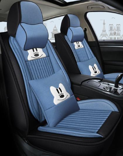 汽车坐垫女四季通用哈弗H6大众Polo朗逸速腾宝来夏季全包亚麻座套