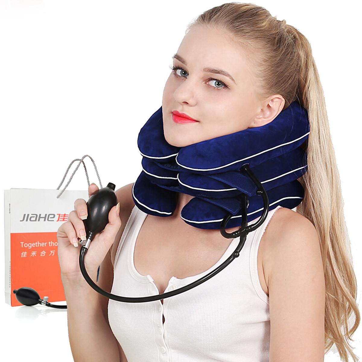 佳禾 充气式颈椎牵引器JQB03三层3管颈托拉伸医用颈部气囊