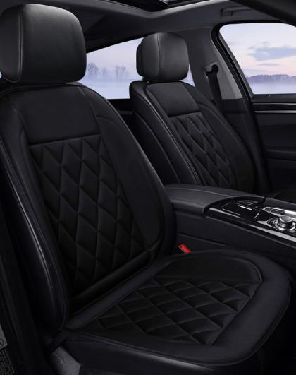 汽车加热冬季保暖布艺座垫加热垫功能坐垫1816单座-商务黑