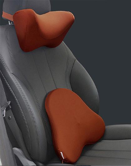 慢回弹记忆棉头枕靠枕汽车头枕腰靠套装护腰靠垫颈枕办公车用