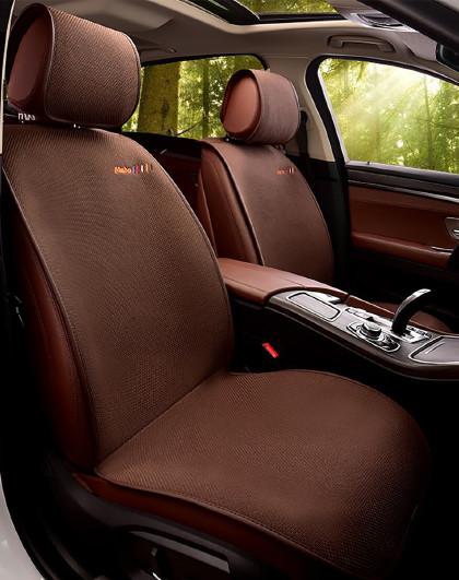 汽车坐垫亚麻四季坐垫适用于昂科威君迈腾CRV翼虎凯美瑞座垫