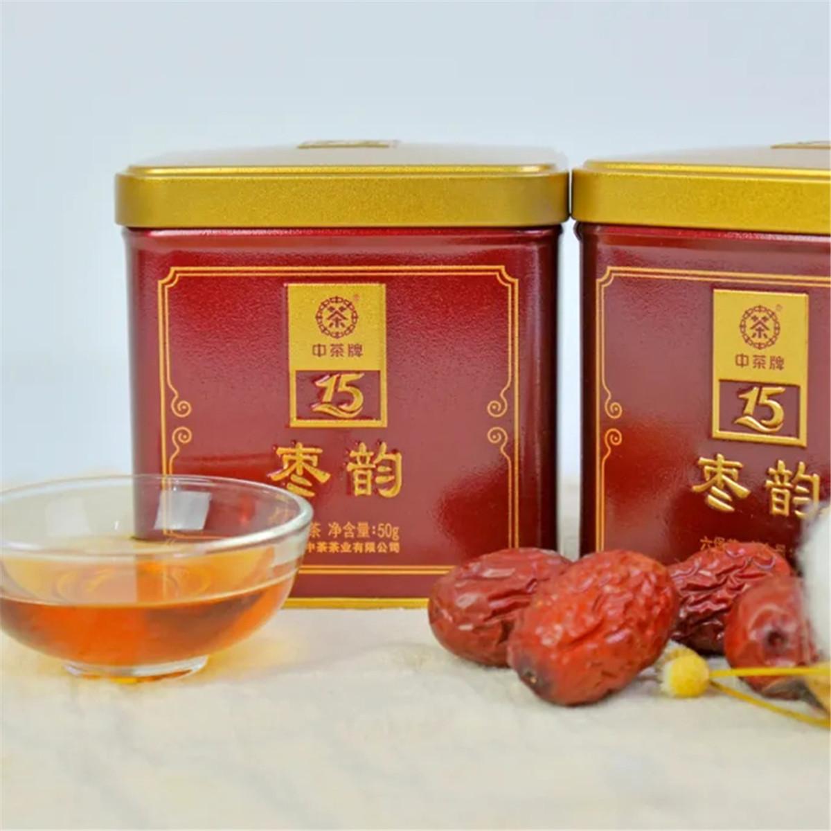 中茶 中粮梧州六堡茶黑茶 枣韵三级散茶 50g/罐