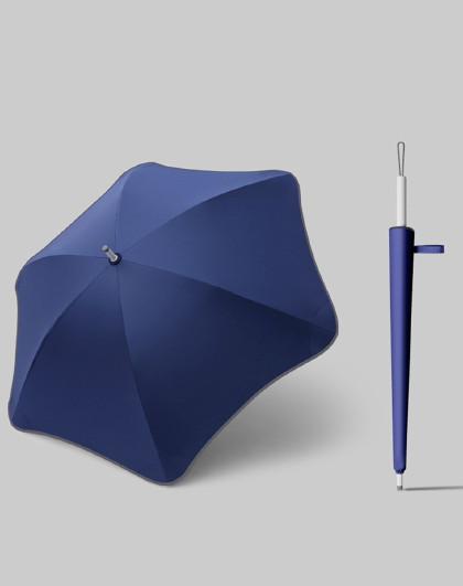 创意梅花角直杆雨伞长柄晴雨两用黑胶折叠加固抗风防晒遮阳伞男女