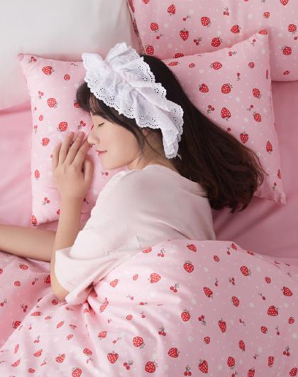 博洋家纺 博洋全棉糖果抱枕舒适柔软透气草莓公主靠枕抱枕
