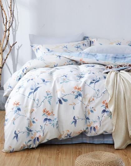博洋全棉田园花卉印花套件单双人床上用品纯棉四件套