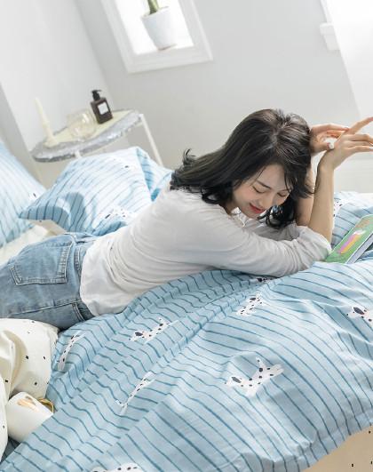 全棉学生宿舍床单三件套套件床上用品纯棉四件套