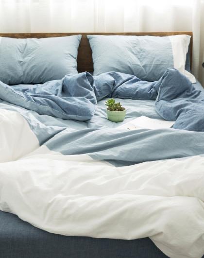 全棉北欧时尚水洗棉床单/床笠款床上用品纯棉四件套