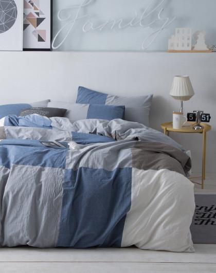 简约全棉水洗床单/床笠款床上用品纯棉四件套