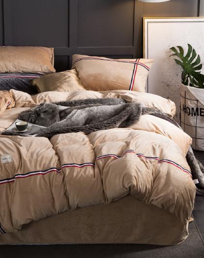 时尚宝宝绒冬季加厚保暖床单被套式床上四件套