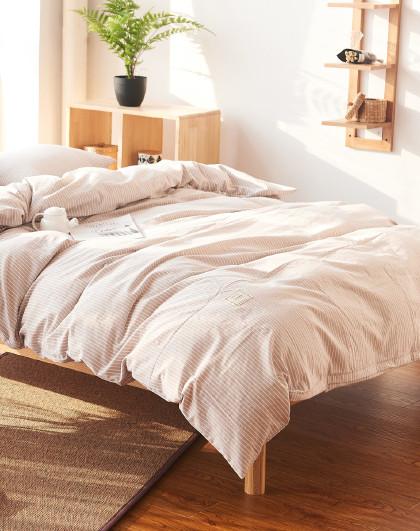 全棉色织水洗棉床单/床笠款床上用品纯棉四件套